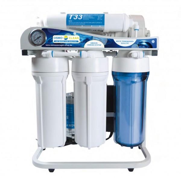 Osmoseanlage 500 GPD Directflow Modell Exklusive, 5-stufig Reinwasserverhätlniss ca. 1:1