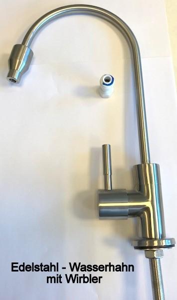 1 Wege Edelstahl Wasserhahn mit Wirbler