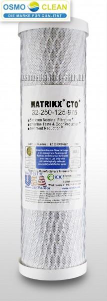 MATRIKX® CTO® - Hochwertiger 5µ CTO Kohleblockfilter, z.B. als 2. Stufe einer 5-stufigen Osmoseanlag