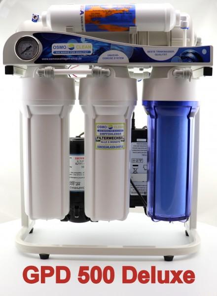 """DELUXE Ausführung! Osmoseanlage """"Titan Exklusive 500 GPD/ ca. 1.900 Liter pro Tag mit Wasserhahn"""