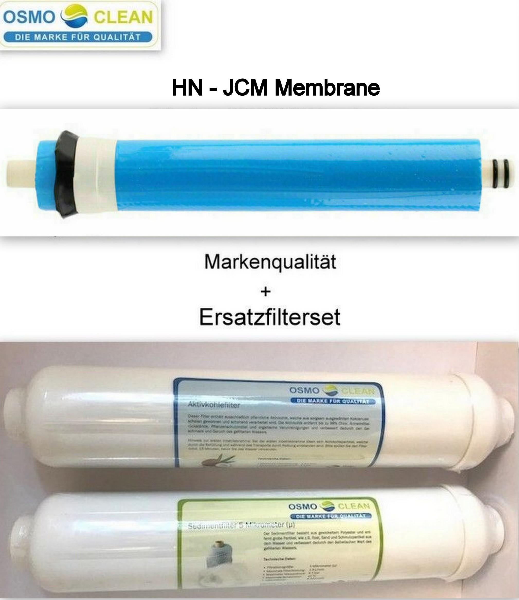 Packung Membrane kompatibel mit allen Osmose-Systemen Ersatzfilter f/ür Wasserreiniger 5-stufige Umkehrosmose-Filter JACAR